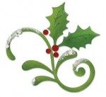 Sizzix Bigz Die - Flourish, Holly & Mistletoe