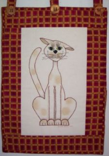 "Purrfection – Stitchery-13""x18"" Pattern"