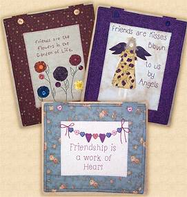 COUNTRY STITCHES SET A - 3 Country Applique Designs Pattern
