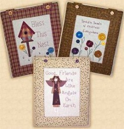 COUNTRY STITCHES SET B -3 Country Applique Designs