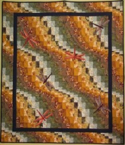 "Dance The Dragonfly 32"" x 42"" or 48"" x 56"" Bargello Wall Hanging"