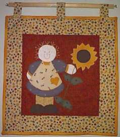 "Sunflower Girl - Appplique'Flower Girl - 16"" x 16""' Pattern"