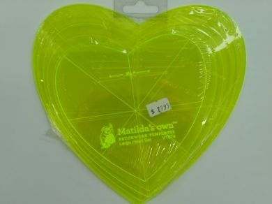Matilda's Own Lrg Heart Template Set