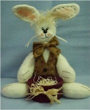 "Rafferty Rabbit - 15"" Rabbit Doll Pattern"