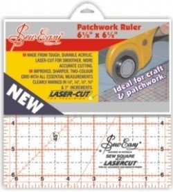 "Sew Easy Ruler 6.5"" x 6.5"""