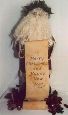 St Nick'. 20' Free Standing Santa Pattern